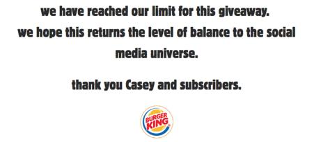 Burger Kings Giveaway