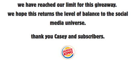 Burger Kings Giveaway